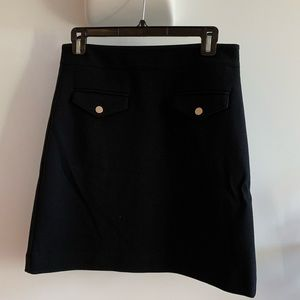 Mod black skirt with buttons